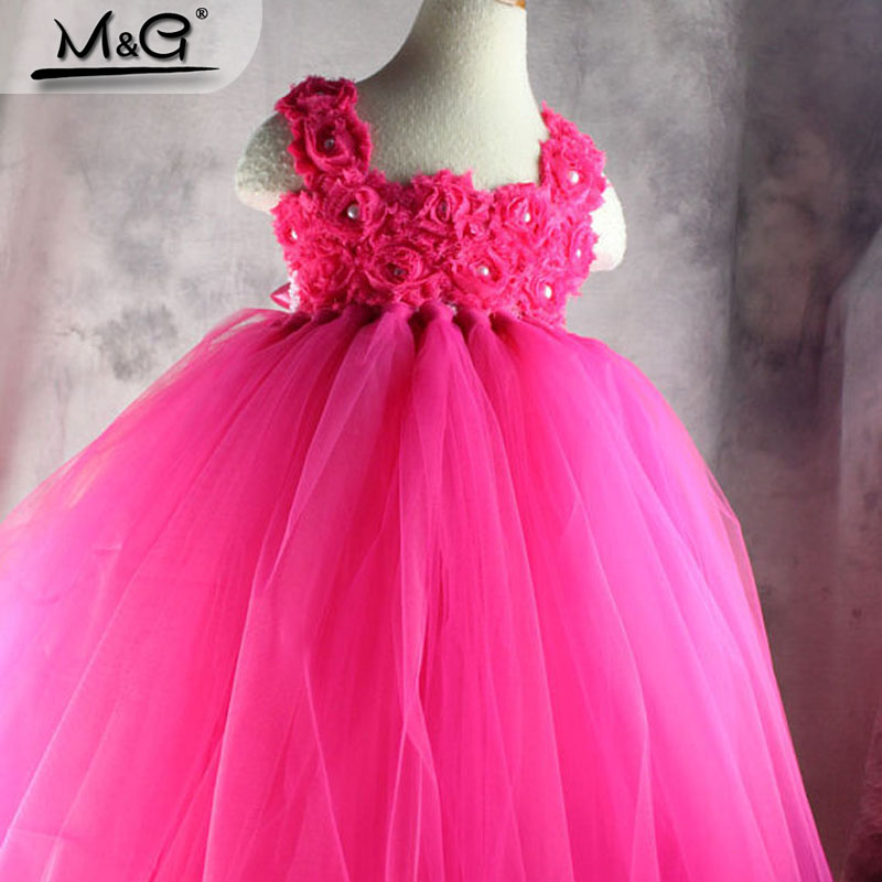 2016 new flower girl princess tutu dresses Kids handmade