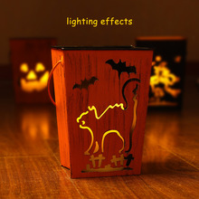 Halloween Outdoor Decoration,Decorative Garden Cat/bat Lanterns,Flameless Led Candle with Timer, Home Decoration,Party Decor