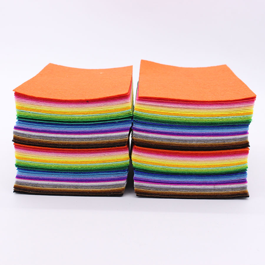 160 pcs 40 color felt cloth 1mm felt fabric polyester for Cloth material for sewing