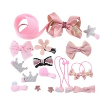 1Set=18pcs Princess Style Hair Accessories Set Gift For Girls Kids Baby Toddler Flower Headband Hair Band Headwear Sets