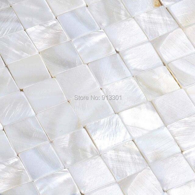 perlmutt fliesen backsplash günstige muschel mosaik fliesen weiß ... - Weisse Kche Mit Mosaikfliesen