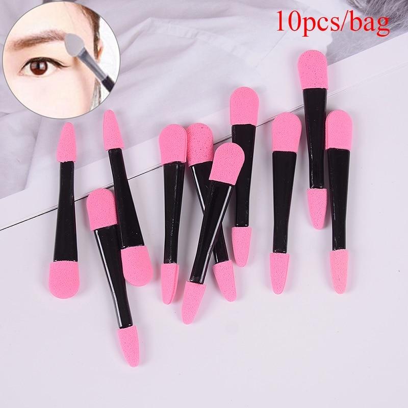 10pcs Eyeshadow Applicator Pro Sponge Double Ended Eye Shadow Make Up Supplies Portable Eye Shadow Brushes Powder Brush