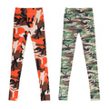 Womens Graffiti Style Slim Camouflage Print Stretch Trouser Army Leggings Pants