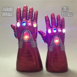 Image 5 - Guerra gauntlet homem de ferro vermelho ver 1:1. Figura de ação led luz cosplay thanos luvas prop presente do miúdo