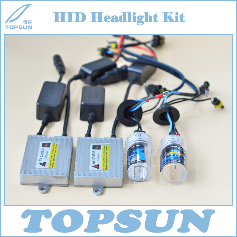 Free Shipping Car Headlight Kit 35W HID CANBUS Ballast W9 and TAICHANG Xenon Bulb H1 H3 H7 H8 H9 H10 H11 9005 9006 880 (H27) 881 buildreamen2 55w 9005 9006 h1 h3 h7 h8 h9 h11 880 881 hid xenon kit ac ballast bulb 10000k blue car headlight lamp fog light