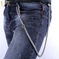 U7 316L Stainless Steel Waist Biker Wallet Chain Keychain Rock Punk Trousers Motorcyle Hip Hop Pant Jean Chains Men Jewelry J008