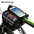 CoolChange alta calidad ciclismo bicicleta frente marco bolsa tubo Pannier doble bolsa para teléfono móvil accesorios para bicicletas en bolsa