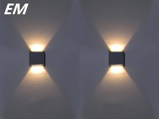 wholesale price modern style 2 3w led wall sconce aluminum 60 60mm