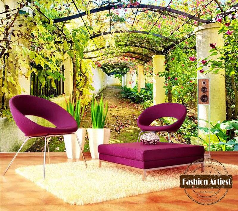 Benutzerdefinierte 3d floral baum galerie tapete wandbild Garten ...