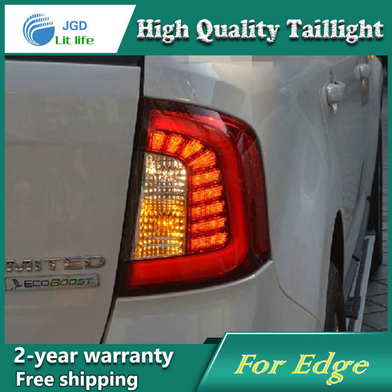 Car Styling Tail Lamp for Ford Edge 2012 2013 2014 Tail Lights LED Tail Light Rear Lamp LED DRL+Brake+Park+Signal Stop Lamp car styling tail lamp for toyota corolla led tail light 2014 2016 new altis led rear lamp led drl brake park signal stop lamp