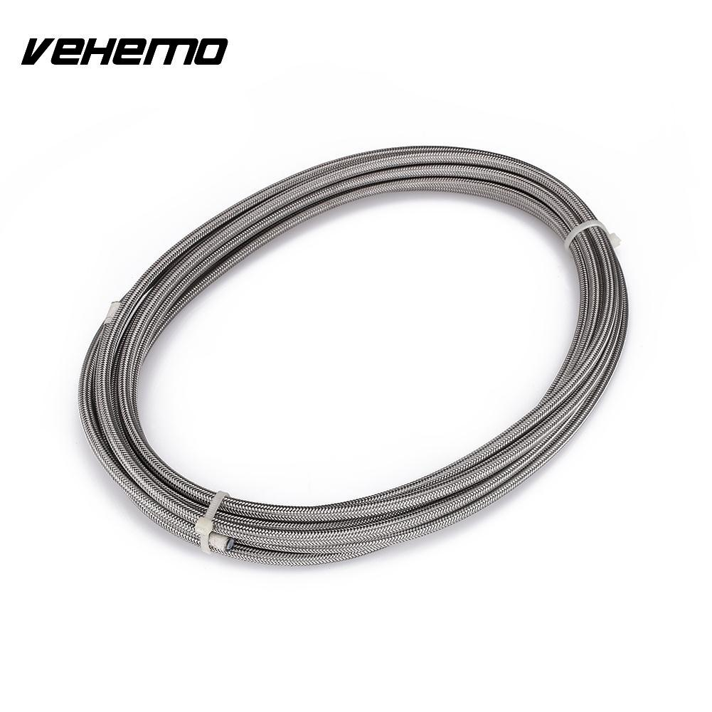Vehemo Car Stainless Steel Braided Teflon Flexible Durable Soft Hoses Tube Clutch