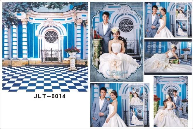 SHENGYONGBAO 300*500cm Art Cloth Muslin Photography Backdrops Prop Wedding Dress Background JLT-6014