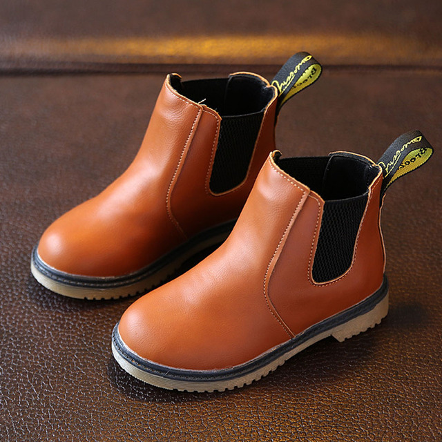 European America Style Children Autumn Boots Kids Boys Martin Boots Fashion Toddler Girls Ankle Boots 2017 Winter Toddlers Shoes