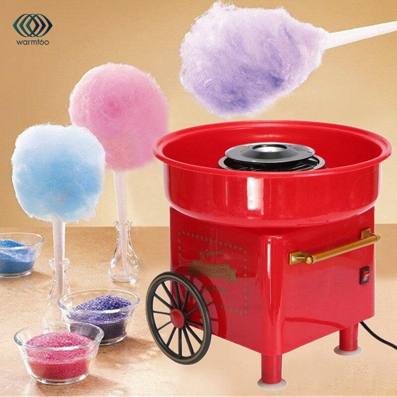 купить Household Mini DIY Sweet Cotton Candy Machine Electric Retro Sugar Maker Cart Cotton Candy Machine Commercial Floss Machine по цене 2883.09 рублей