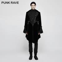 PUNK RAVE Gothic Gorgeous Velvet Jacket Cooat Steampunk Vintage Men Vampire Trench Coat Halloween Party Winter Formal coat