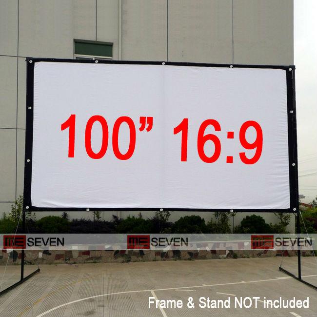 "Portable Projector Screen Tripod Projector Screen Projection Screen 100/"" 16:9"