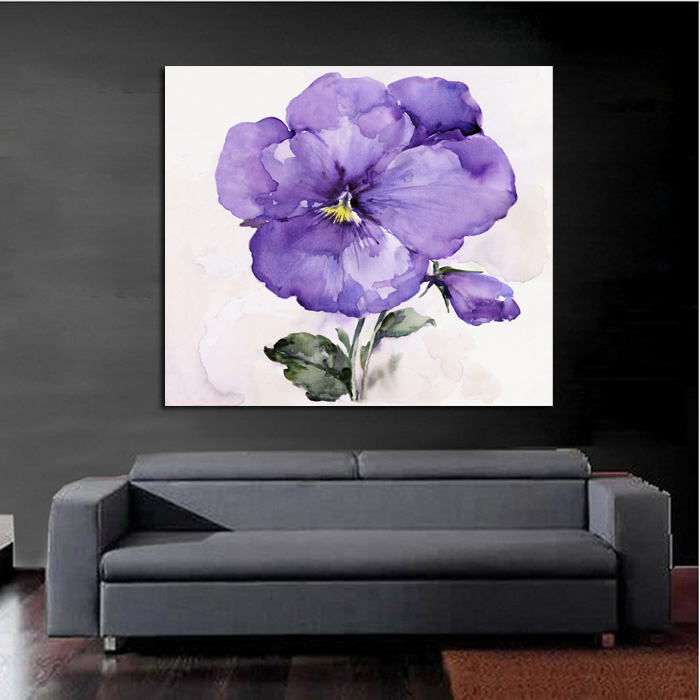 Purple Vegetable Wall Art: High Quality Handpainted Oil Painting Purple Flower Wall