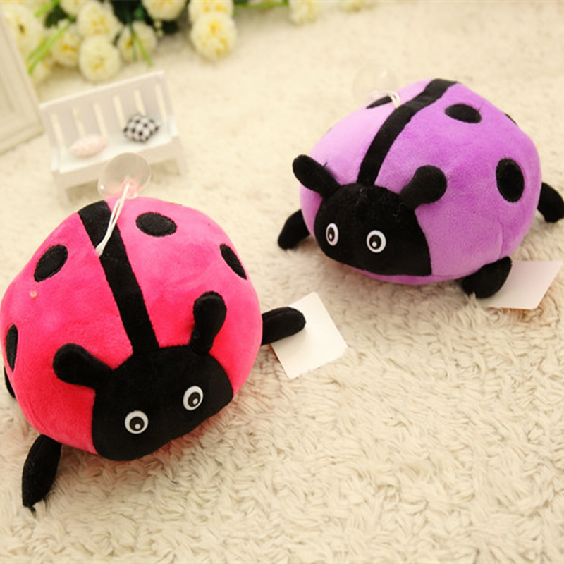 15cm Lovely Ladybird Plush Toy Small Ladybug Doll PP Cotton Stuffed Ladybeetle Kid Gift stuffed animal 44 cm plush standing cow toy simulation dairy cattle doll great gift w501