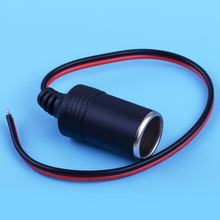 beler Car Female Car Cigar Cigarette Lighter Charger Cable Outlet 28cm DC12V 100W Socket Plug Connector Adapter(China)
