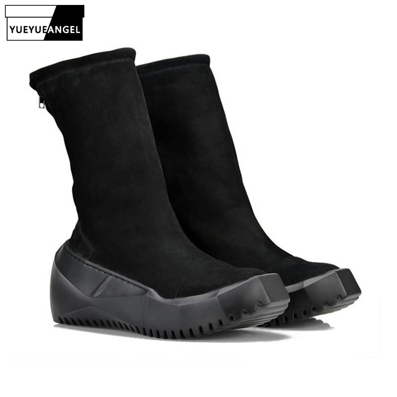 Fashion Men Zipper Punk England Style Retro Thick Bottom Round Toe Male Boots Genuine Leather Cow Calzado Hombre Chaussure HommeFashion Men Zipper Punk England Style Retro Thick Bottom Round Toe Male Boots Genuine Leather Cow Calzado Hombre Chaussure Homme