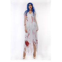 white Corpse Bride Vampire Witch Dress Halloween Costumes Cosplay For Woman Party Carnival Zombie costume w1876