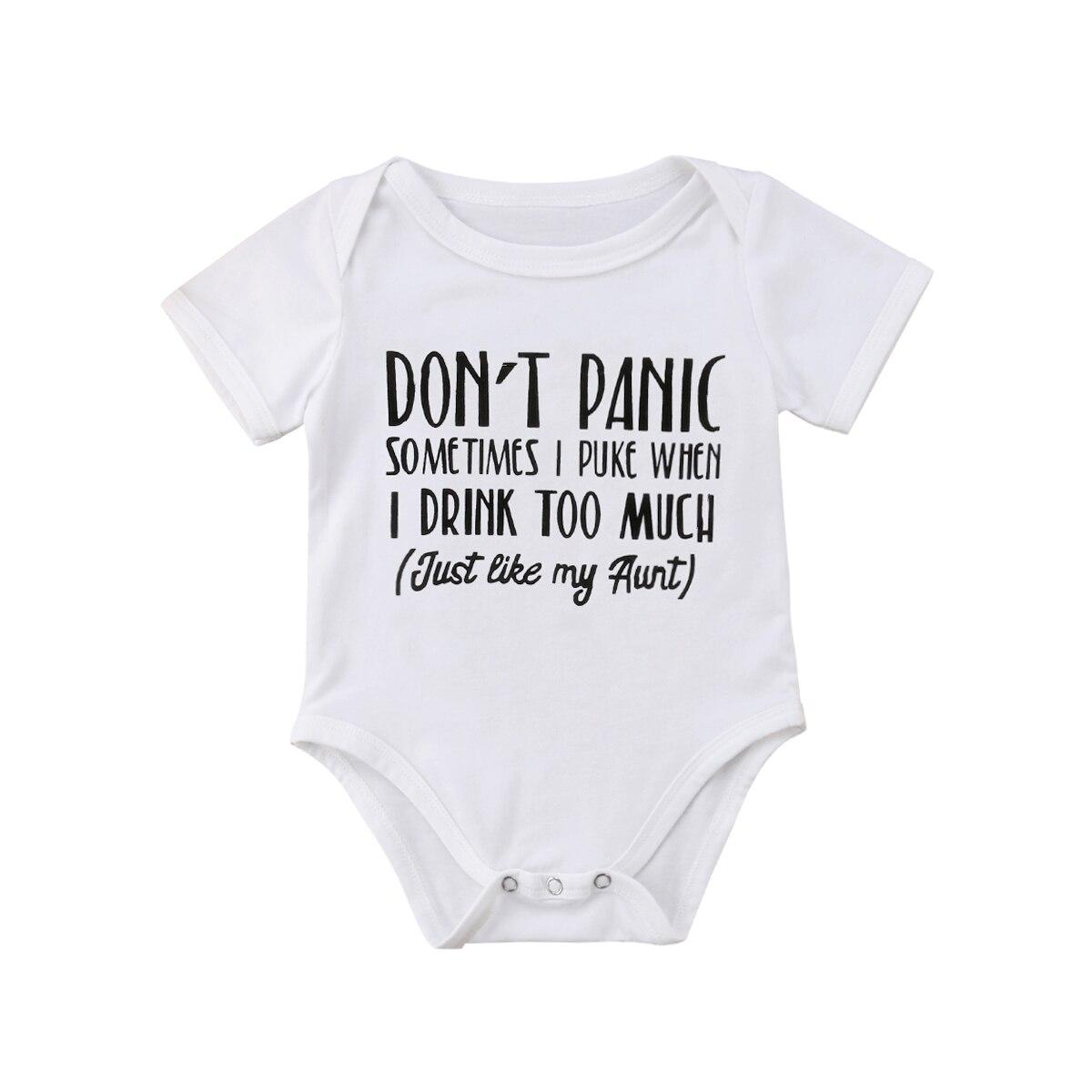 0-18 Mt Neugeborenen Baby Junge Mädchen Kurzarm Brief Drucken Baumwolle Romper Overall Outfits Casual Kleidung