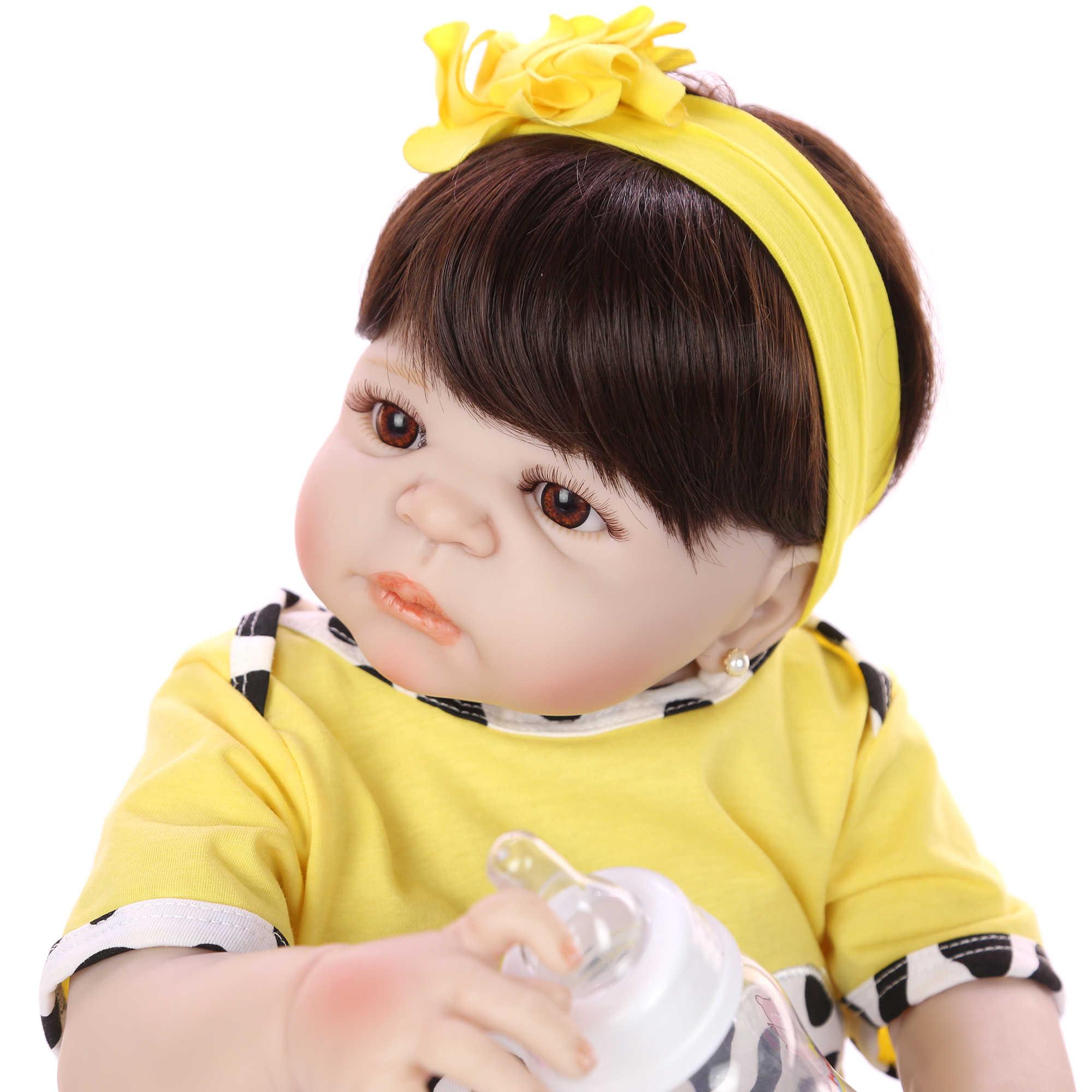 KEIUMI Коллекционная 57 см кукла для новорожденных, полностью виниловая кукла, очень похожая на девочку, живая кукла в Бразилии, игрушка для малышей, подарок на день рождения