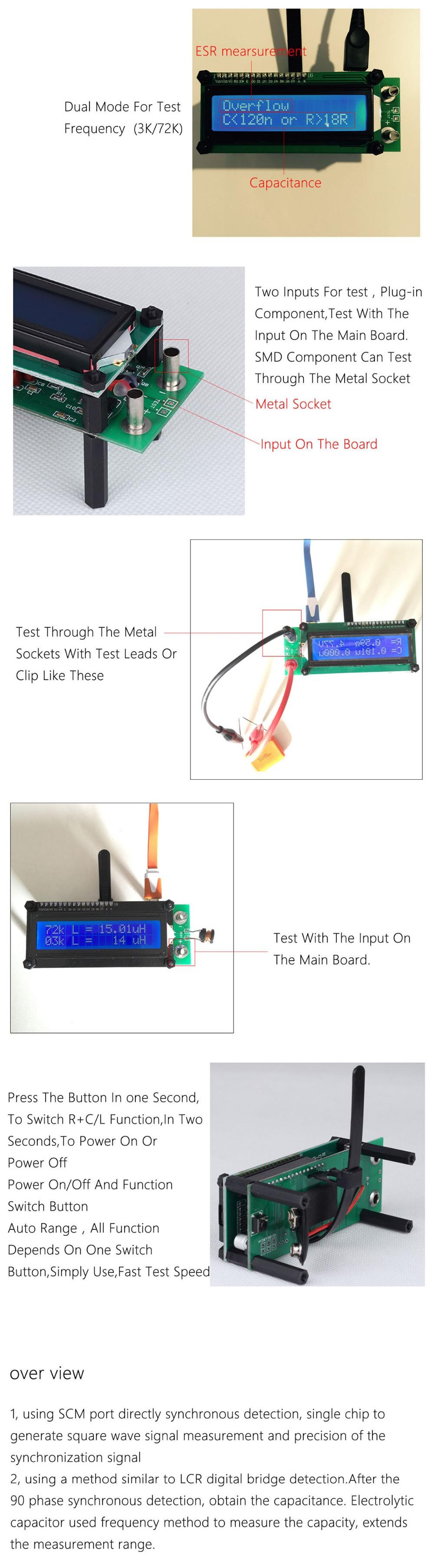 M069 Aimometer Esr01 Auto Range Digital Lcr Tester Resistance Meter Circuit Diagram 01 02