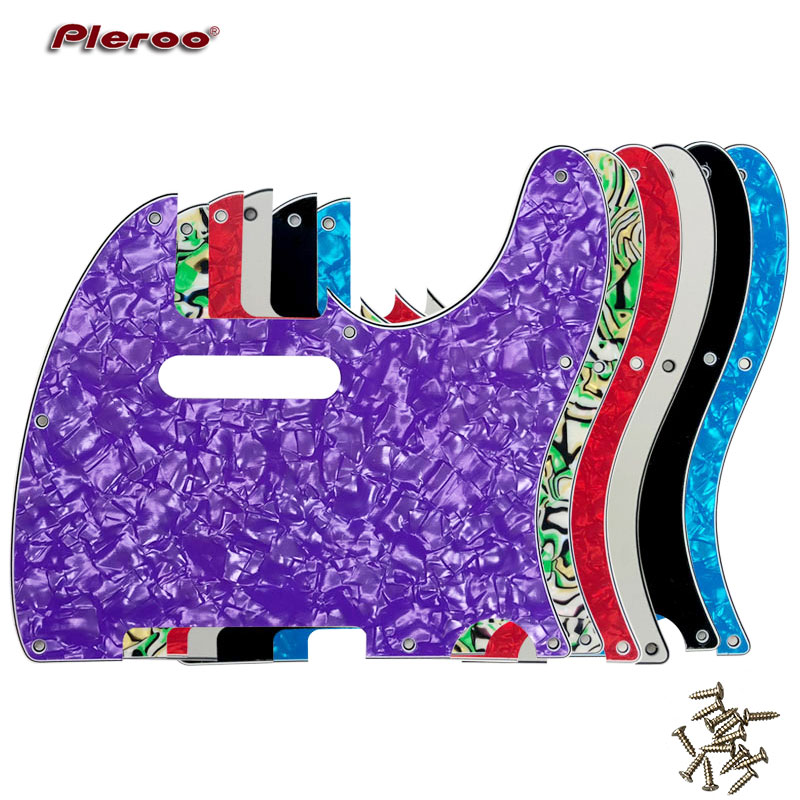 Pleroo Guitar Parts - For US Standard 8 Screw Holes 62 Year Tele Telecaster Guitar Pickguard Scratch Plate, Multicolor Choice