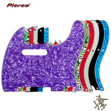 Pleroo Guitar Parts - For US Standard 8 Screw Holes 62 Year Tele Telecaster Guitar Pickguard Scratch Plate, Multicolor choice black 3 way wired loaded prewired control plate harness switch knobs for tl tele telecaster guitar parts