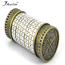 лучшая цена Leonardo da Vinci Educational toys Metal Cryptex locks gift ideas holiday Christmas gift to marry lover escape chamber props