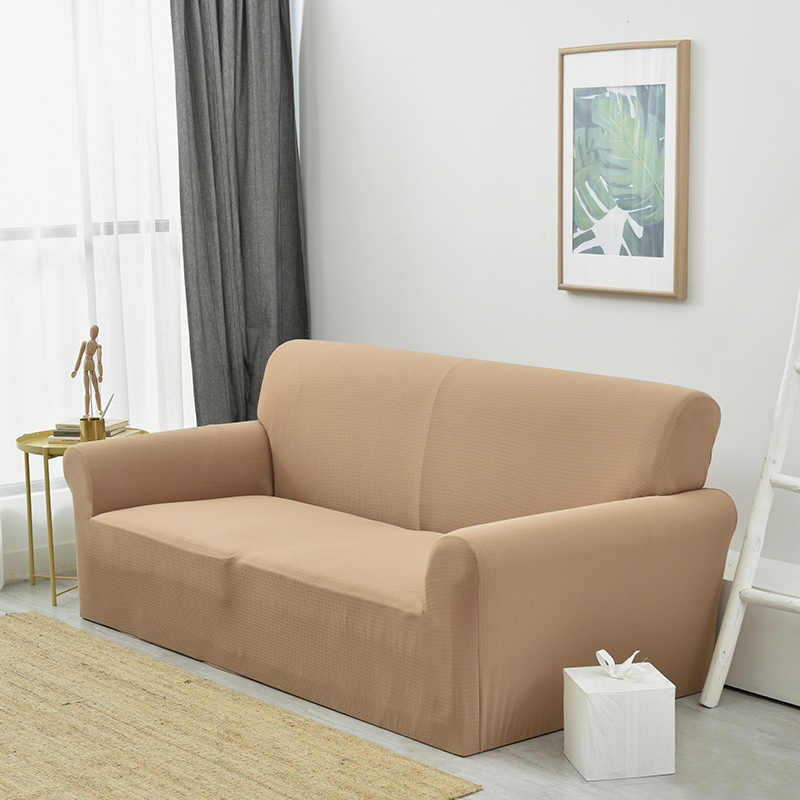 Solid Color Elastic Antskid Sofa Cover Waterproof Sofa Slipcovers 95%  Polyester +5% Spandex 1/2/3 Seat Couch Furniture Cover Set