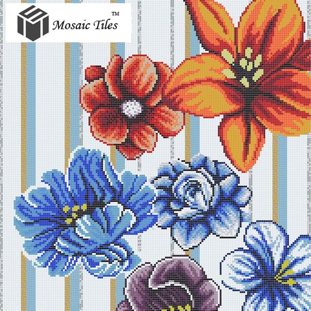 Glasmosaik collage floral fliesen bisazza tapete kunst backsplash ...