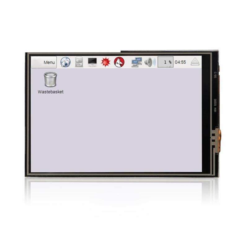 ALLOYSEED 3 5 inch HDMI Mini Touch Screen 480x320 LCD Display +ABS Case Box  for Raspberry Pi 3B+/3B/2B