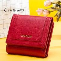 Women Wallets Leather Ladies Wallet Tri fold Short Leather Purse