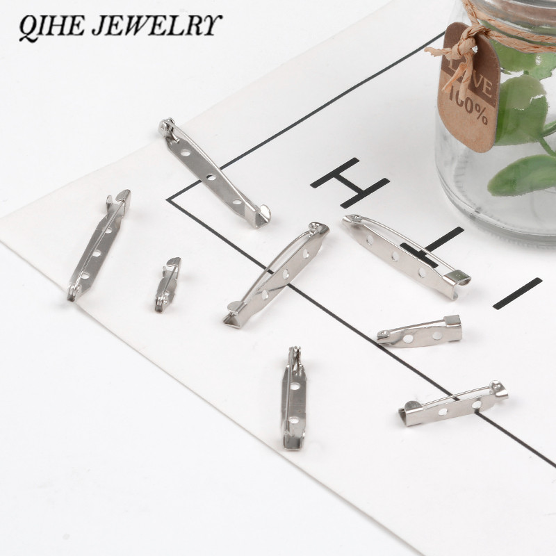 QIHE JEWELRY 20PCS/SET Brooch Backs Jewelry Findings Back Bar Pins Metal Brooch Clasps Choose From 0.8~1.8 Inch
