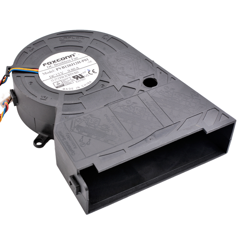 Brand new original PVB120J12H-P01 12cm DC 12V 0.80A Large air volume turbine blower projector cooling fan free shipping new original sanyo 9bam24p2g17 dc24v 0 9a 97 33mm 9cm large wind blower cooling fan