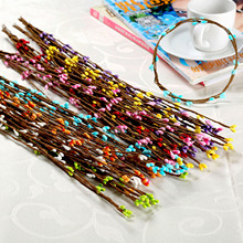 2019 100 Pcs Artificial Beads Branches Flower Stamen Home Wedding Party Car Decoration Crafts Flowers 40CM
