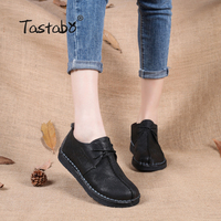 Shangmsh 2017 Fashion Loafers Comfortable Women Shoes Casual Work Driving Shoes Women Flats Genuine Leather Flat