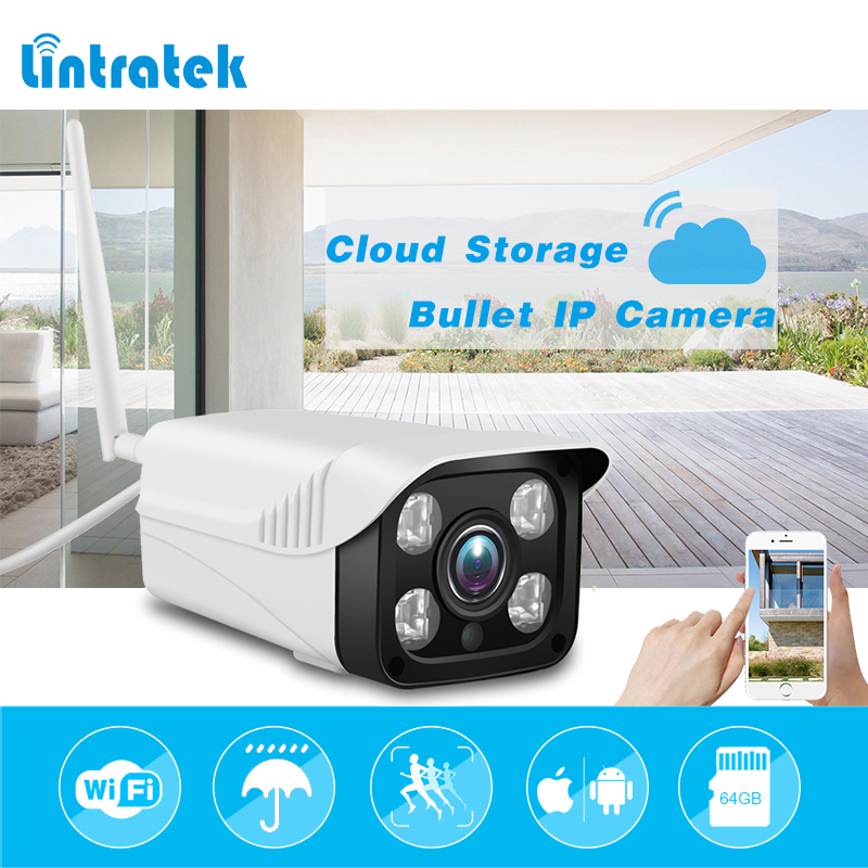 lintratek Surveillance Security Camera hd 720P Bullet ip Camera wi-fi 4pcs IR lights Cloud Storage Indoor/Outdoor wifi Camera fujikam fi 322 b6 hd 720p outdoor indoor waterproof cloud ip camera