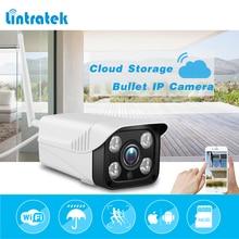 hot deal buy lintratek surveillance security camera hd 720p bullet ip camera wi-fi 4pcs ir lights cloud storage indoor/outdoor wifi camera