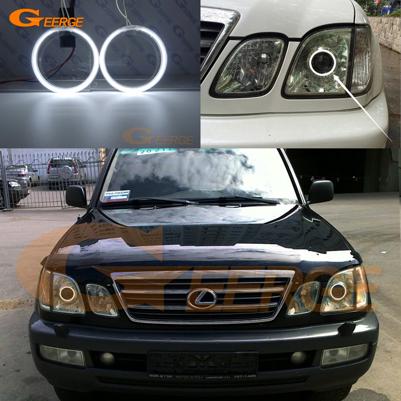 For Lexus LX470 2003 2004 2005 2006 2007 Excellent Ultra bright illumination CCFL angel eyes kit Halo Ring for alfa romeo 147 2000 2001 2002 2003 2004 halogen headlight excellent ultra bright illumination ccfl angel eyes kit halo ring