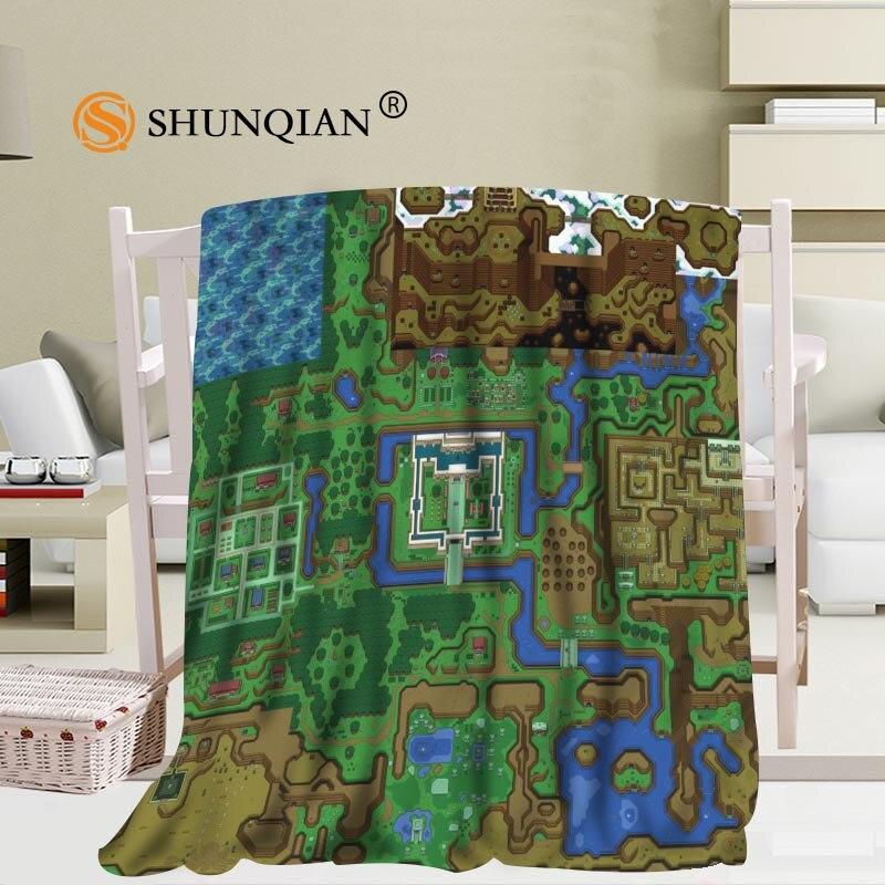 Custom The Legend Of Zelda Map Blanket Office Sofa Blanket Portable Soft Blanket Bed Plane Travel