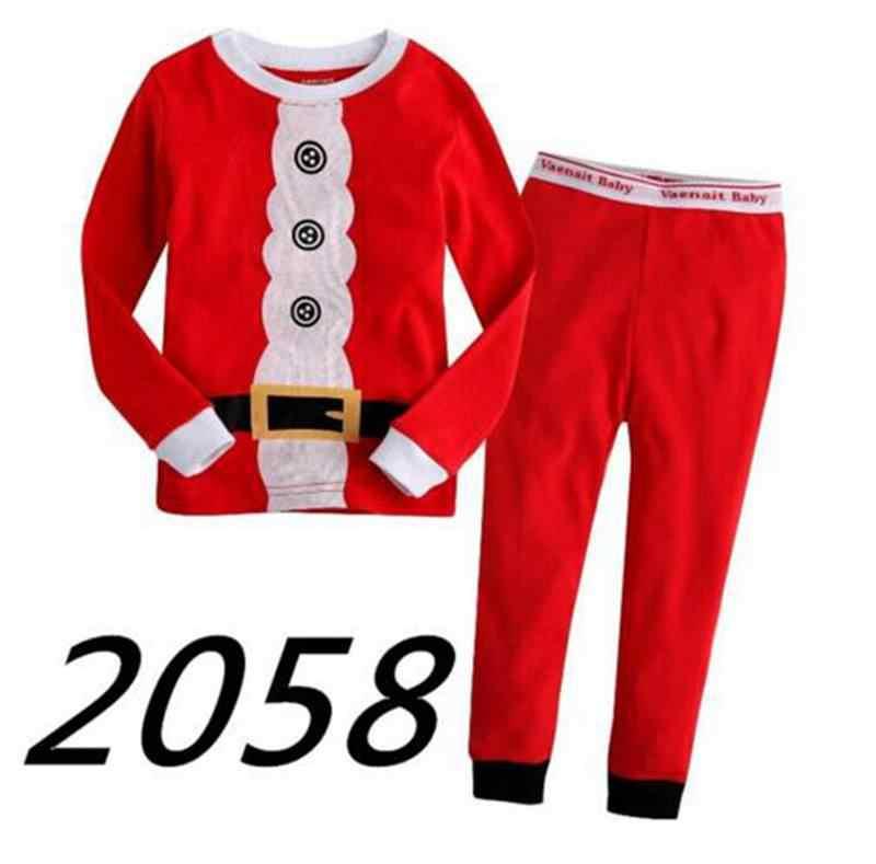 18b89f5663 New Arrival winter christmas Santa claus Snowman pajamas set kids 2-7 yrs boys  girls