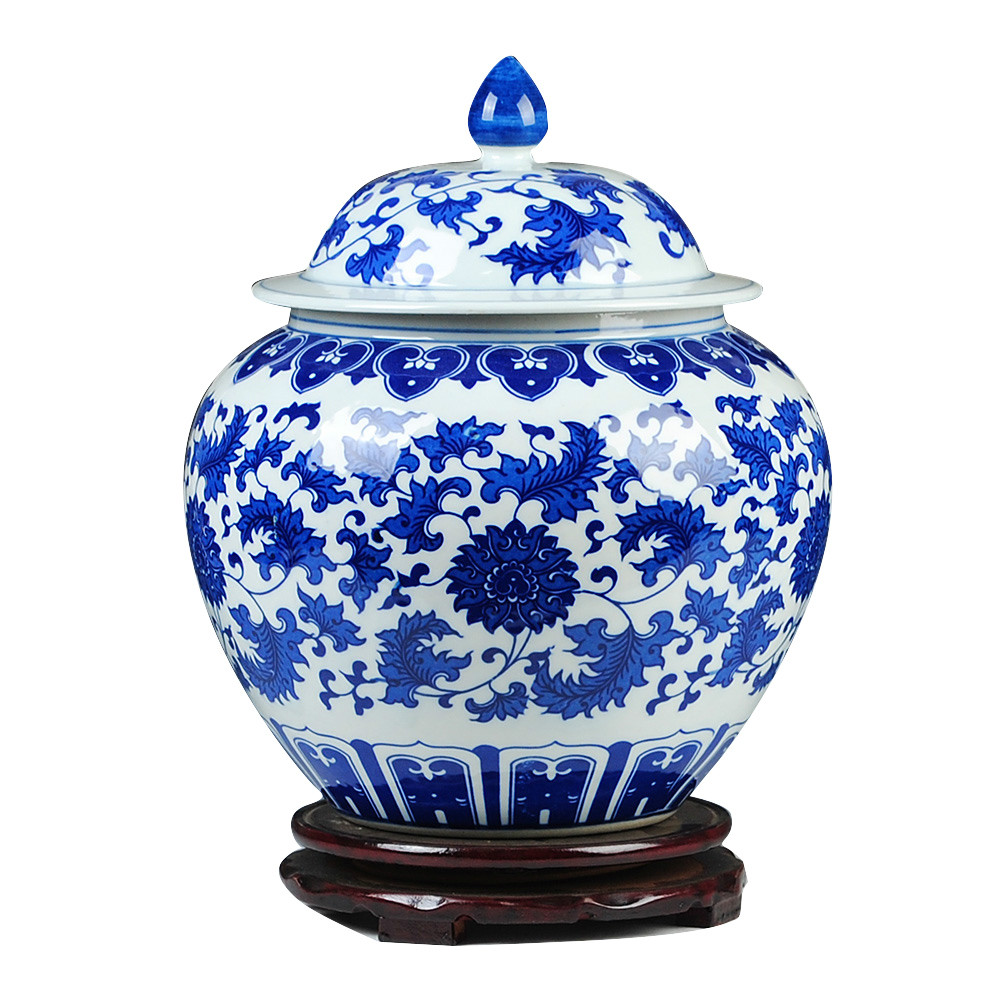 Classical china Blue and White Jars Antique Porcelain Collection Qing Dynasty Ginger Jars