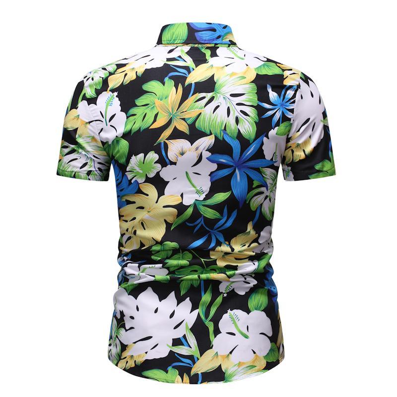 Casual Dress Shirt For Man Flower Short Sleeve Blouse Men's Clothing Floral Hawaiian Shirt Men Summer