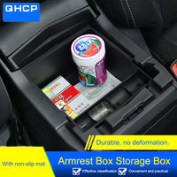 QHCP Car Styling Center Console Armrest Storage Box Tray Container Engineering Car Organizer Accessory For Subaru Forester 2019
