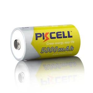 Image 3 - 4 יח\חבילה PKCELL 5000mAh גודל C 1.2V סוללה Ni MH נטענת סוללות