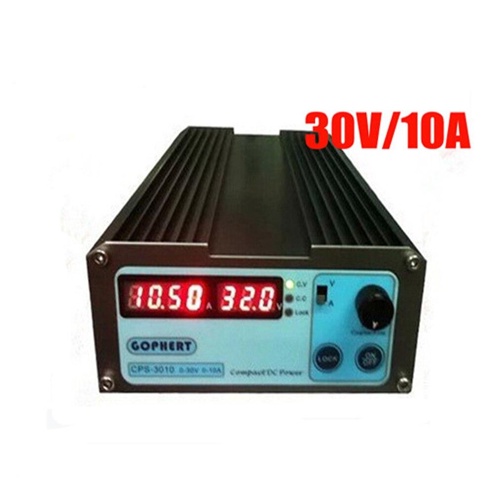 Mini cps-3010II alimentation cc + banane clip fil EU UK US adaptateur OVP/OCP/OTP faible puissance 110 V-230 V 0-30 v 0-10A CPS-3010