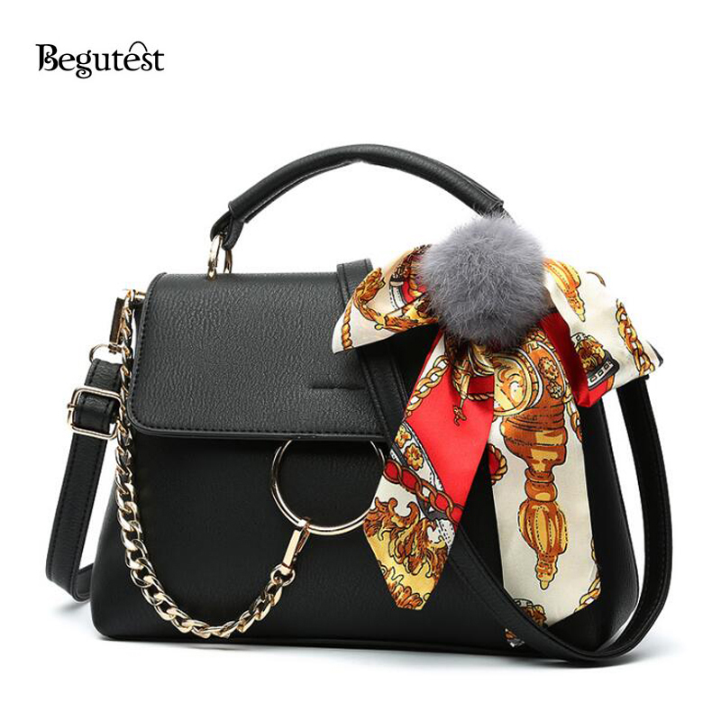 Korean Fashion Women Shoulder Bags Simple Bow-knot Decor Top-handle Bags Ladies